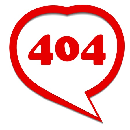 Red 404 error symbol in a unique style. Vector illustration Stock Vector - 21634901