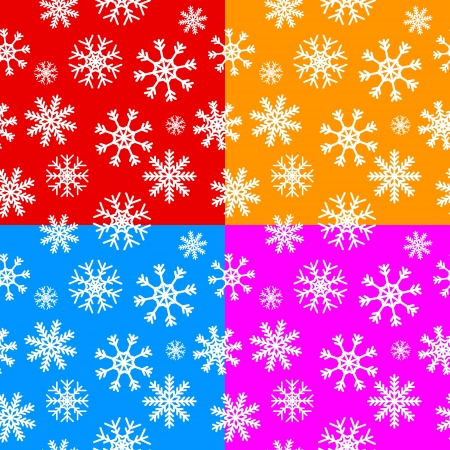 replicate: White snowflakes set on different backgrounds seamless pattern for continuous replicate.