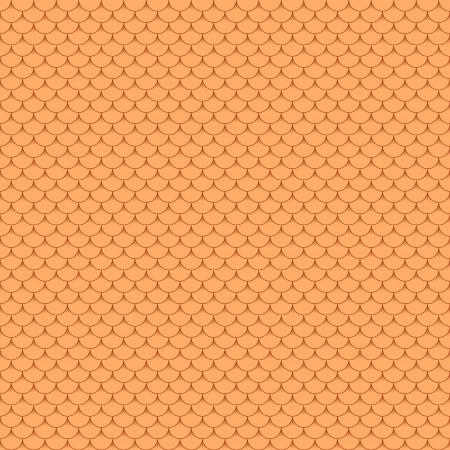 새 원활한 테라코타 지붕 타일 - 연속 복제에 대 한 패턴입니다. 일러스트