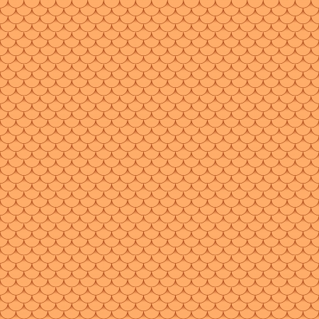 New seamless terracota roof tile - pattern for continuous replicate. Ilustração