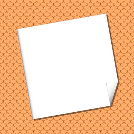 tile roof: Foglio bianco senza soluzione di continuit� su tegola terracotta.