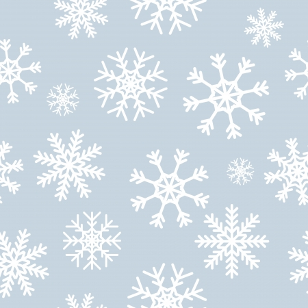 White snowflakes on gray background seamless pattern for continuous replicate. Stock Vector - 21932309