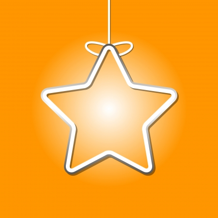 Simple vector christmas card on an orange background Vector