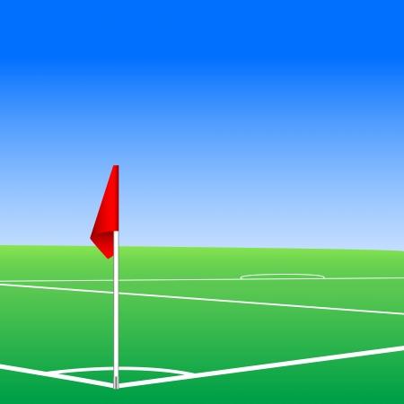 corner flag: Vector illustration of a football pitch corner flag