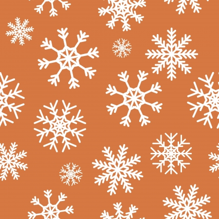 replicate: White snowflakes on brown background seamless pattern for continuous replicate.