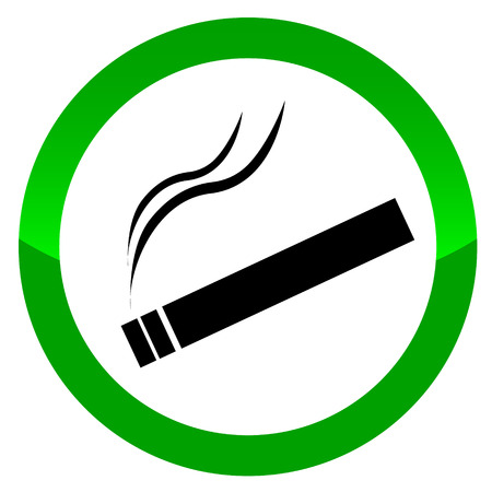 cigar shape: The sign smoking area. Vector illustration on white background Illustration