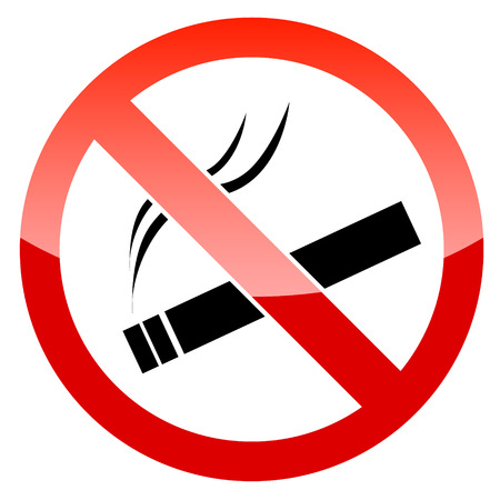 abstain: Vector No Smoking Sign on white background Illustration
