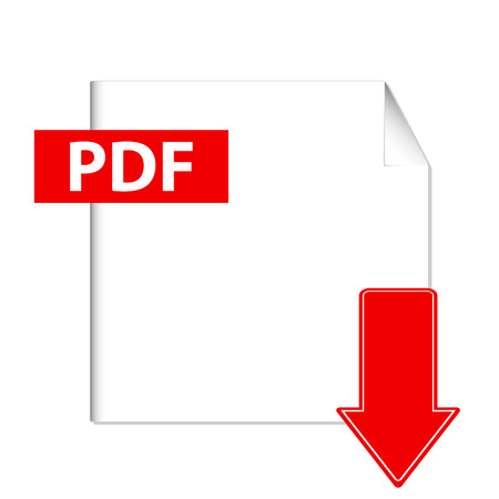 Vector pdf download button on a white background