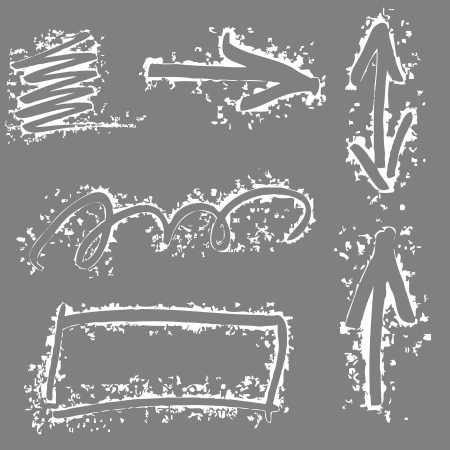 sideways: Arrows And Lines - Hand Drawn Set. Vector illustration