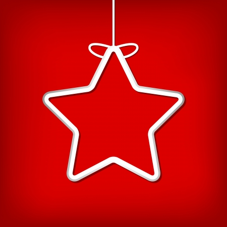 Simple vector christmas card on a rad background Stock Vector - 22387794