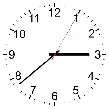 watch face: Clock vector icon on a white background