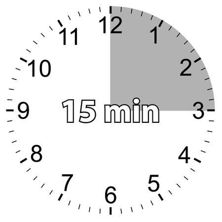 Unique icon of hours with fifteen minutes Vector