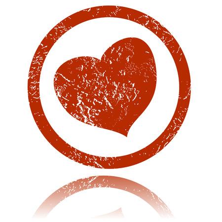 san valentin: Grunge heart on a white background. Vector Illustration Illustration