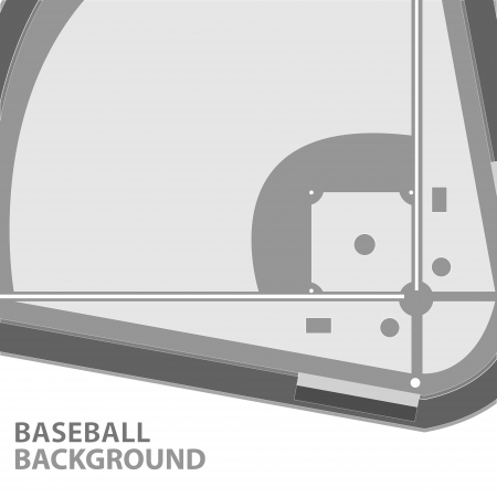 baseball stadium: Unique baseball background with a place for the text Illustration