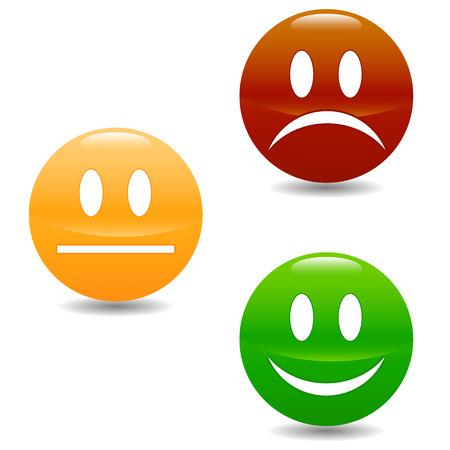 Sourire boutons colorés sur un fond blanc Banque d'images - 22387810