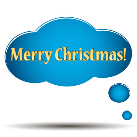 christmastide: Merry Christmas icon located on a white background