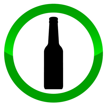 dependance: Alcohol vector sign on a white background