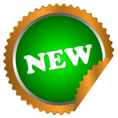 flysheet: New green button on a white background