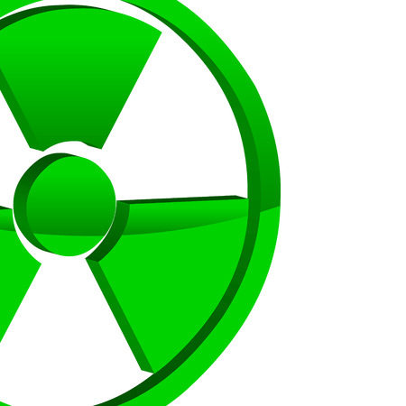 isotope: Abstract background with a nuclear symbol in a unique style