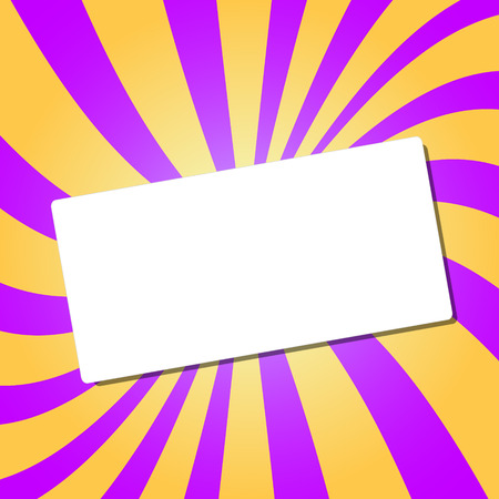dodger: White card on an abstract background. Vector Illustration