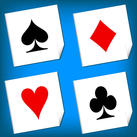 Playing card's signs vector on a white background Vector
