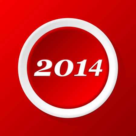 New Year Paper Icon on a red background Vector