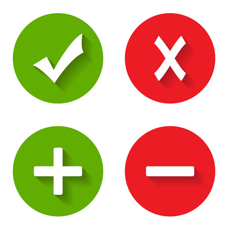 Check mark stickers on a white background. Vector illustration