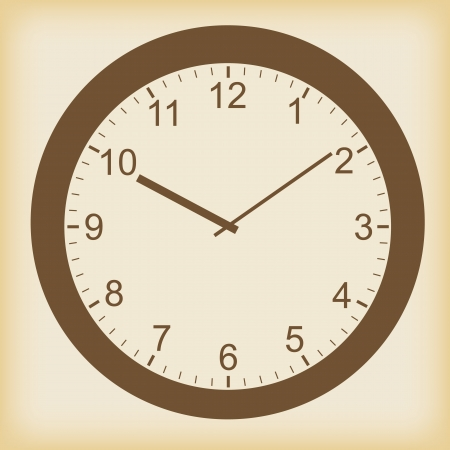 Clock icon in a unique style Vector