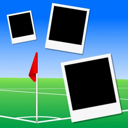 offside: illustration of a football pitch corner flag