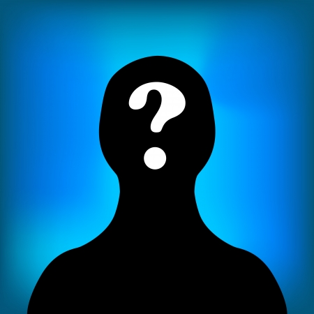 Anonymous black symbol on a blue background  Vector illustration Vector