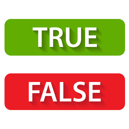 True and false icons on a white background