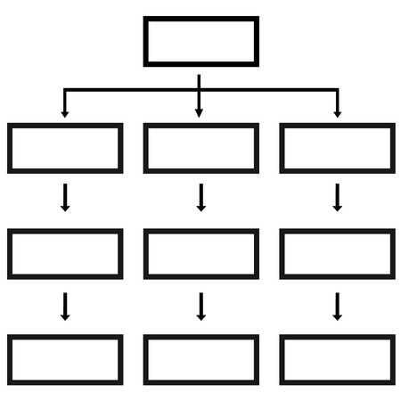 multilevel: New business structure on a white background. Vector illustration Illustration