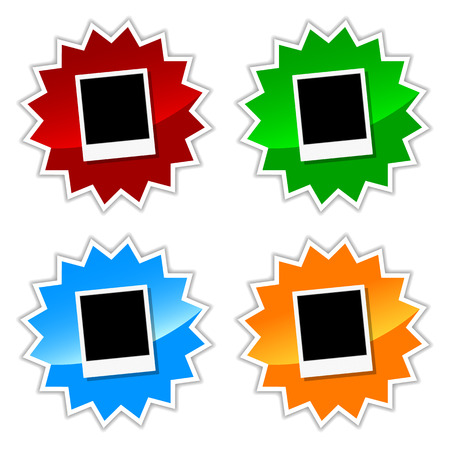 photo icons: New photo icons on a white background. Vector illustration Illustration