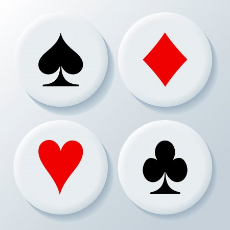 bad fortune: Playing cards signs vector on a white background