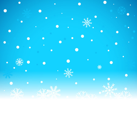 Christmas blue background with snow flakes. Vector illustration Vector