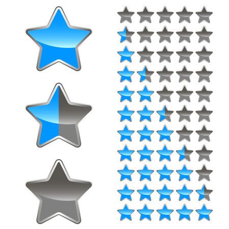 A set of levels for any design  Vector illustration