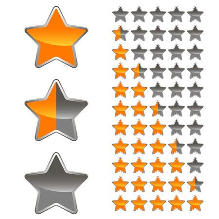 A set of levels for any design. Vector illustration Illustration