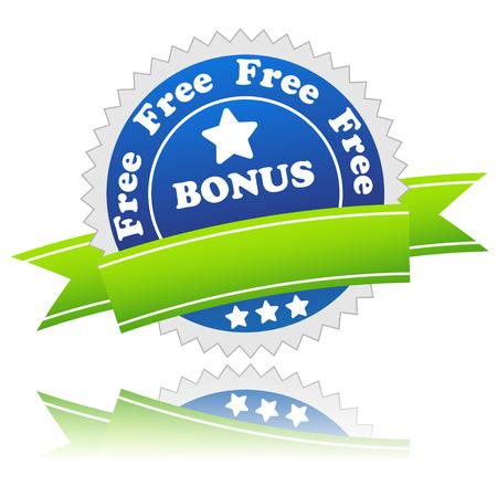 flysheet: Bonus symbol located on a white background. Vector illustration