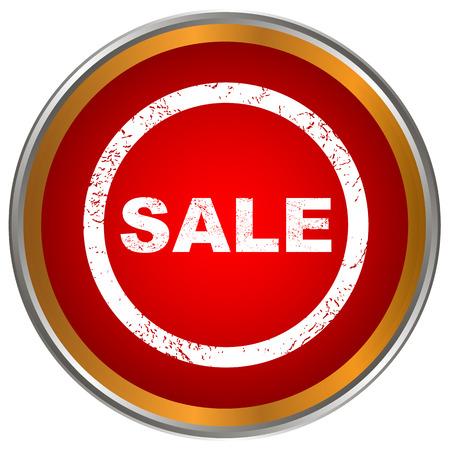 flysheet: Red sale icon on a white background Illustration