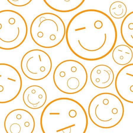 New orange smile seamless pattern. Vector illustration