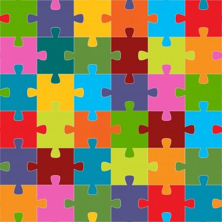 Nahtlose Puzzle Textur für jedes Design. Vektor-Illustration Standard-Bild - 24510155
