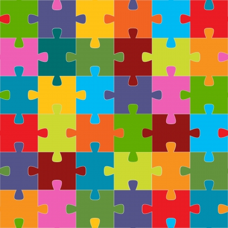 ready to cut: Seamless puzzle texture for any design. Vector Illustration