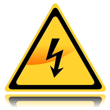 New high voltage danger sign in a unique style Stock Vector - 24510174