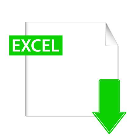 sobresalir: Verde excel icono sobre un fondo blanco Vectores