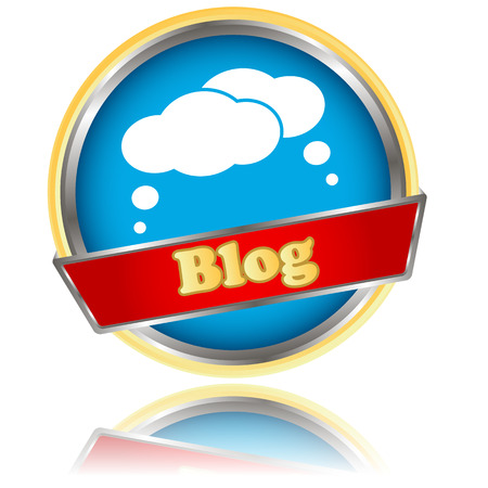 blog icon: Blue blog icon on a white background