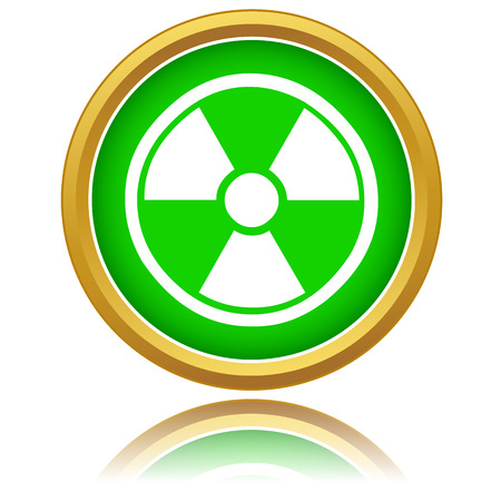 Green nuclear icon on a white background Stock Vector - 24510205