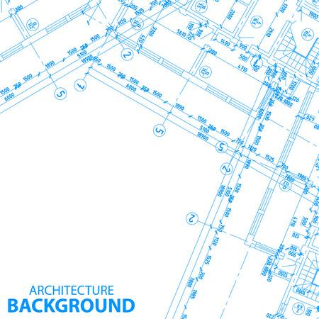 Nouveau projet architectural détaillé pour toute conception. Vector illustration Banque d'images - 24510416