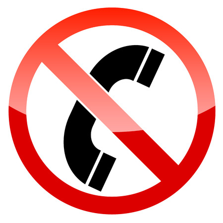 No phone vector sign on a white background Stock Vector - 24510418
