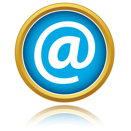 Blue email icon on a white background Vector