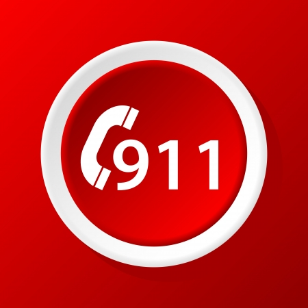 road ring: 911 emergency icon on a white background